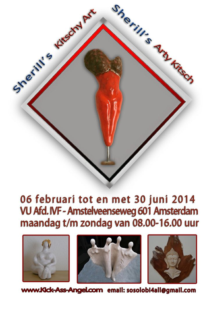 Exhibition of my Kitschy Art and/or Arty Kitsch in VU medical center / dept IVF - 06 February - June 30, 2014