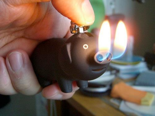 Lighter: Pigs Lighter, Idea, Stuff, Fire Pigs, Awesome, Pink Piggy, Funny, Cute Pigs, Piggy Lighter