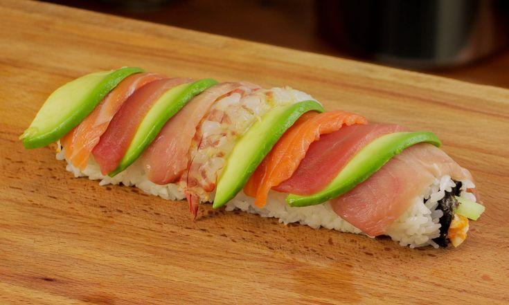 Rainbow Sushi Roll Recipe