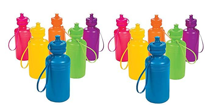 Oriental Trading Inc Neon Sport Water Bottles 2 Dozen Bulk Toy Review Sport Water Bottle Oriental Trading Neon
