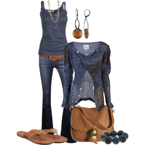 Casual: Blue Wardrobes, Blue Sweaters Outfit, Casual Friday, Color Combos, Jeans Outfit, Fall Outfit, Casual Looks, Blue Outfit Idea, Brown Clothing