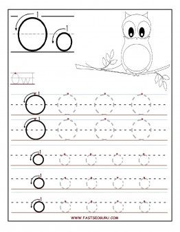 Free Printable letter O tracing worksheets for preschool. Free connect the dots alphabet letters worksheets for kids