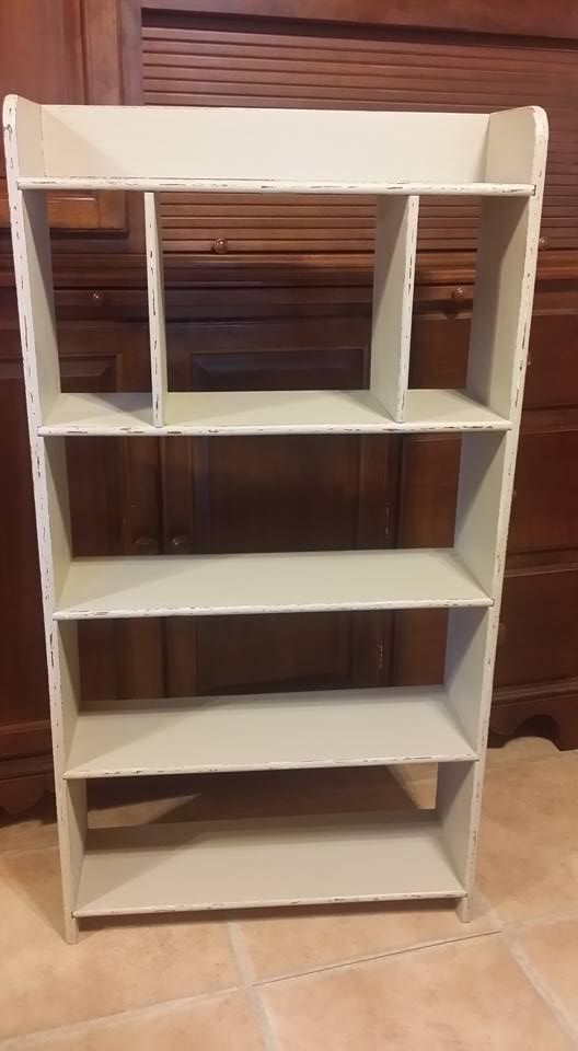 Candy McHone Rowe Used Sand Bar To Spruce Up This Old Book Case. Furniture  ...