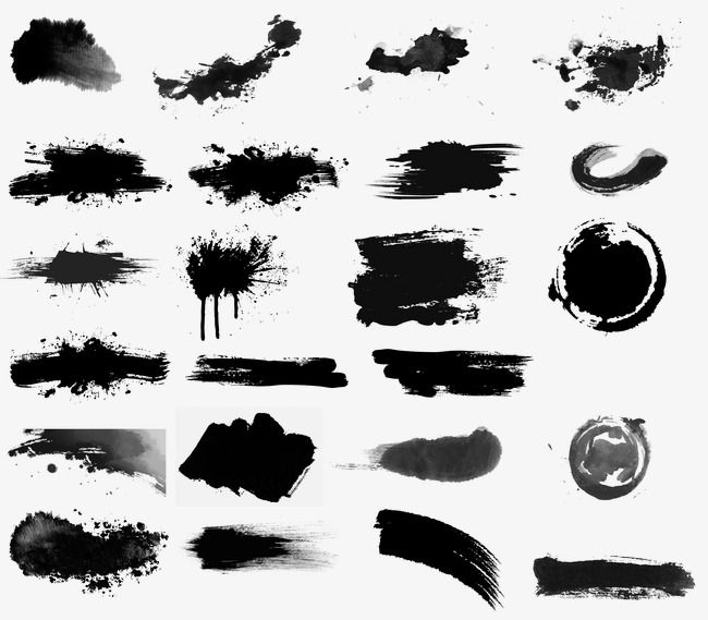 Black Ink Brush Brush Effect In 2020 Watercolor Brushes Brush