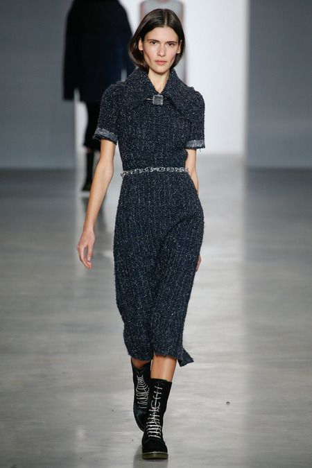 I have been looking for a sweater dress all winter long, and the Calvin Klein Collection has fed my craving.