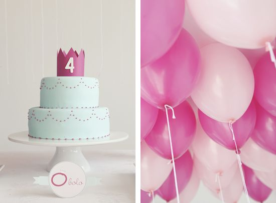 Cute, simple princess cake