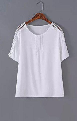 White Stripes T-Shirt Blouse