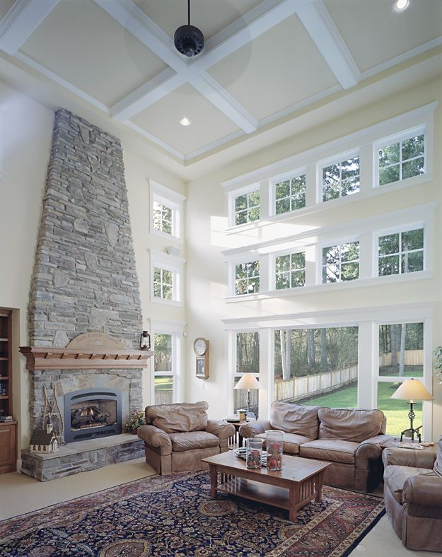 25 best ideas about two story windows on pinterest gray for Houses with upstairs living