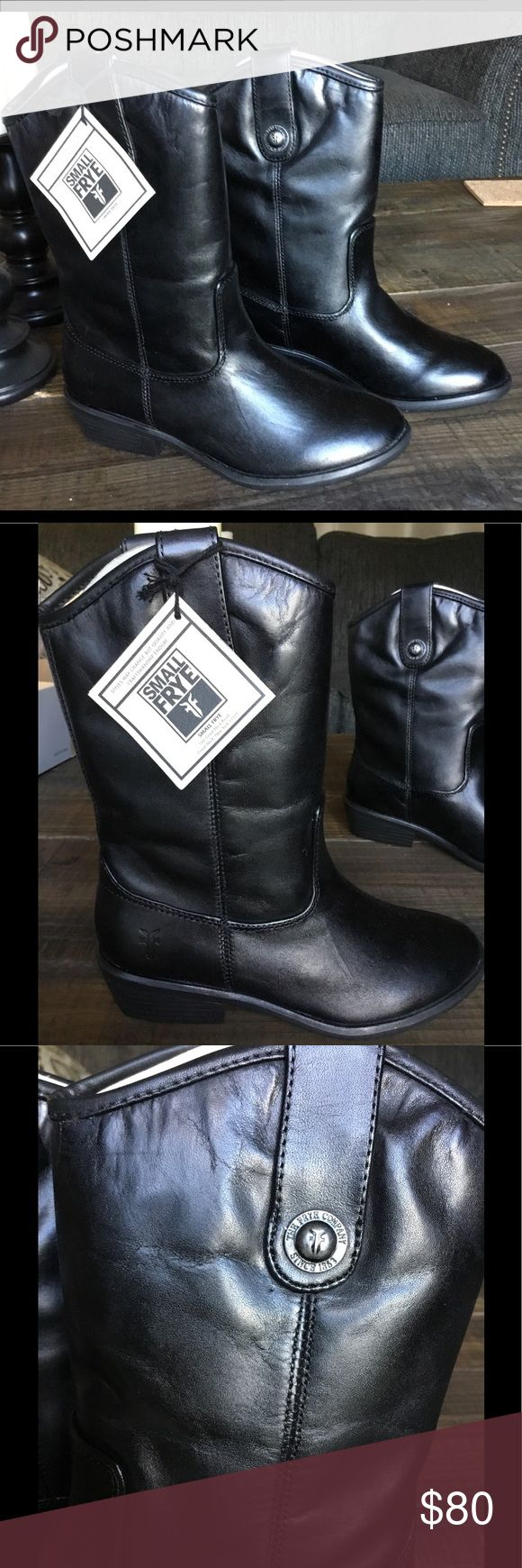 Little frye leather boots Melissa button black leather little frye boots. Size 1 m . Frye Shoes Boots