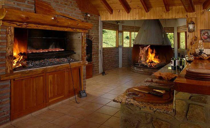 Parrilla y al palo quinchos espectaculares pinterest for Modelos de jardines interiores