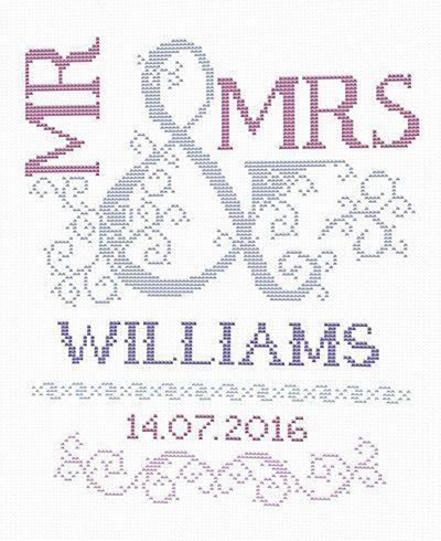 Scheme for cross stitch Wedding Cross Stitch by PatternsTemplates