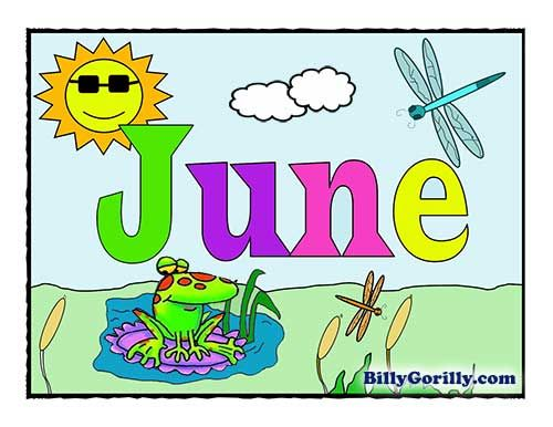 June ( ) is the sixth month of the year in the Julian and Gregorian calendars and one of the four months with a length of 30 days.