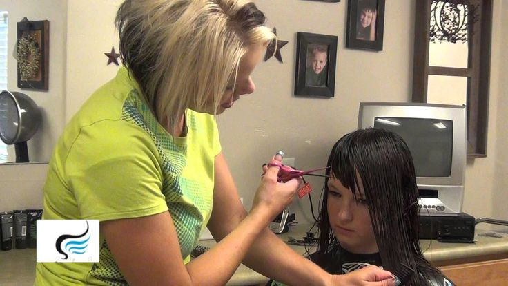Long Side Swept Bangs Tutorial | Side Bang Haircuts http://www.boysandgirlshairstyles.com/ In this video, RaDona shows how to cut a longer hairstyle with a v...