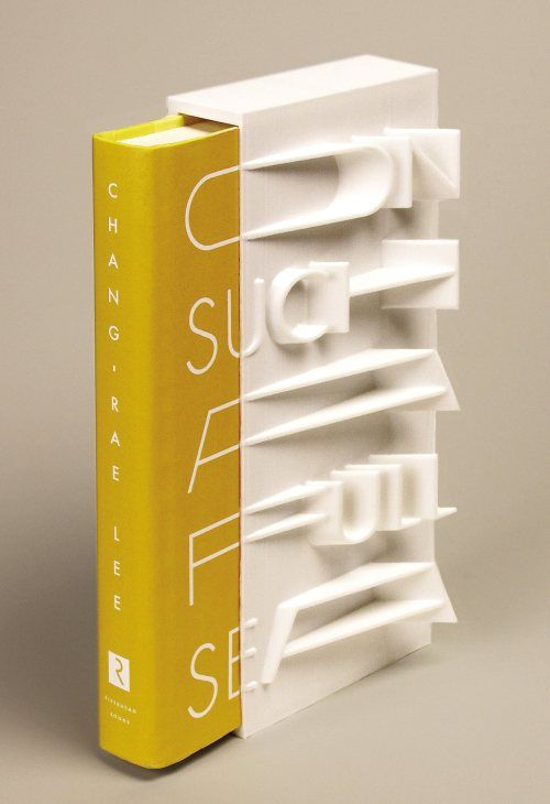 Helen Yentus, the art director of Riverhead Books, designed two covers for the recently published On Such a Full Sea by Chang-rae Lee. The regular hardcover — which is beautiful in itself (see below) — has a hand-lettered jacket. The second, for a limited edition of the novel, comes in a white slipcase made on a 3D printer. In this video, Helen talks about the 3D printed slipcase, designed in collaboration with the MakerBot Studio