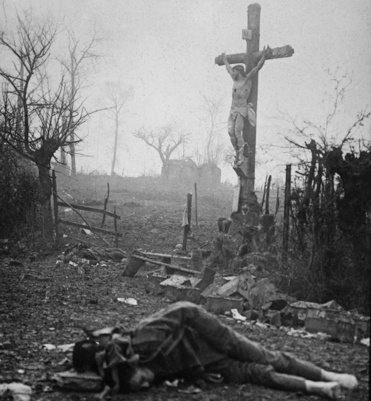 """Marc on Twitter: """"""""Amid the appalling devastation and bodies of dead soldiers, a crucifix stands tall – miraculously preserved from the shell fire"""" #WWI https://t.co/filwcR4KKu"""""""