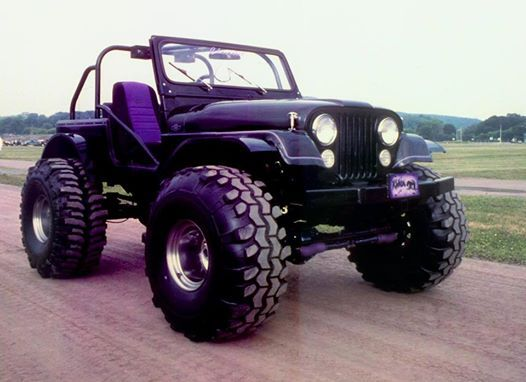 Purple jeep Big tires
