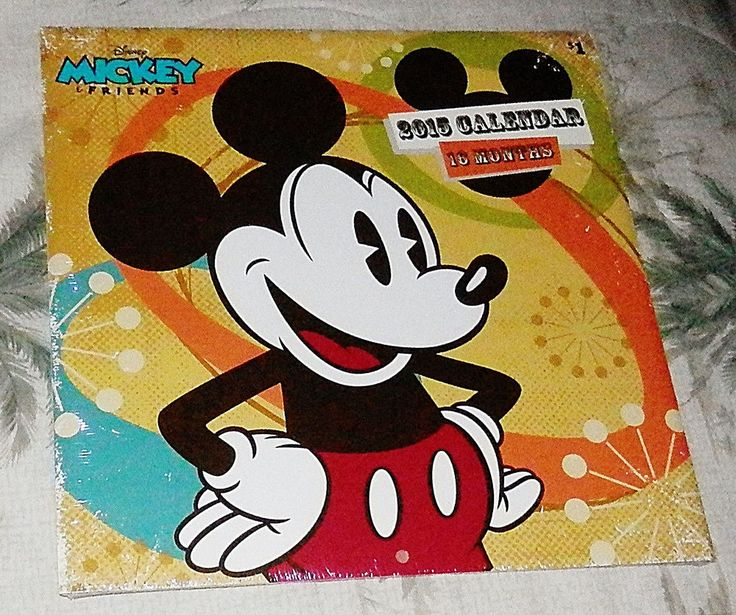 Disney 2015 Mickey and Friends 16 month Calendar Unopened.