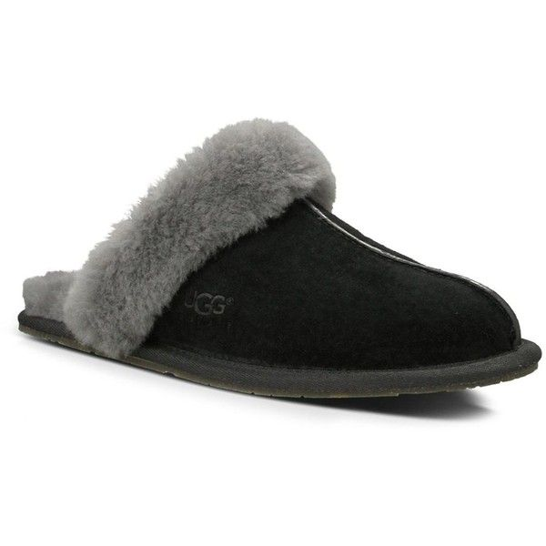 Ugg Scuffette Ii Suede Sheepskin Slipper ($85) ❤ liked on Polyvore featuring shoes and slippers