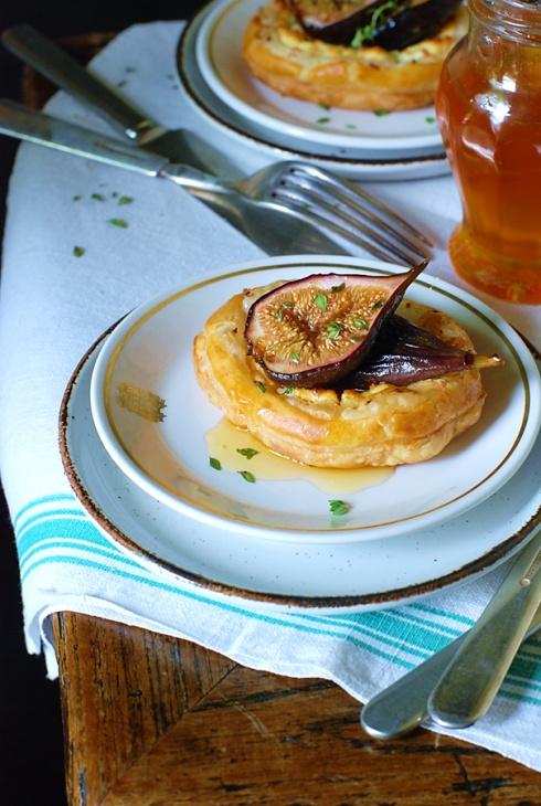 Puff Pastry w/ Fresh Goat Cheese & Honey RoastedFigs