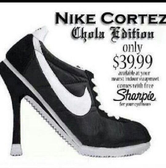 nike cortez high heels