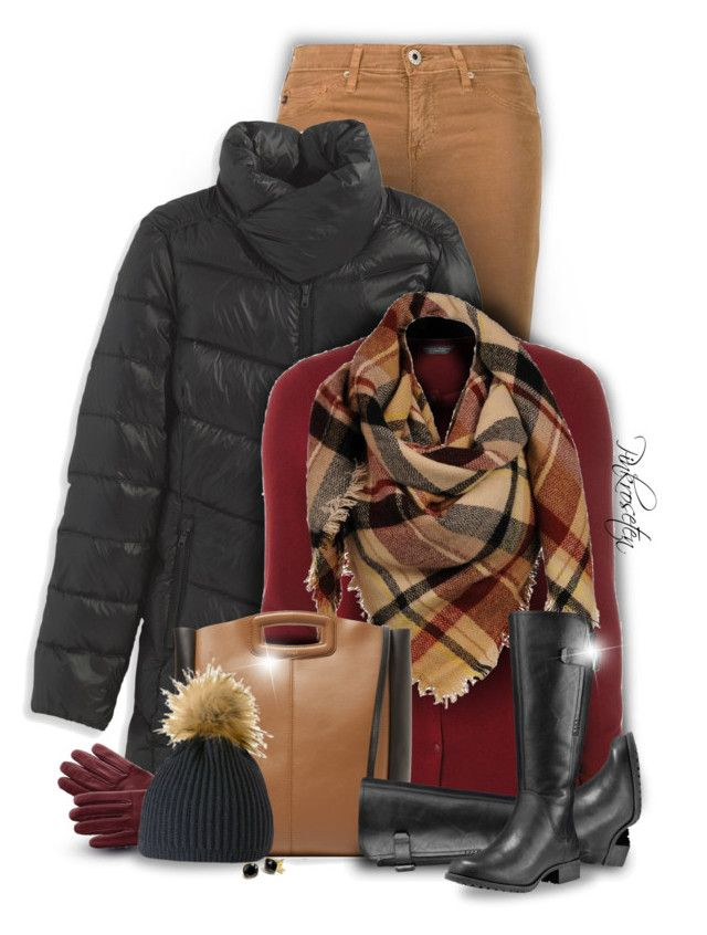 """""""Warm Winter"""" by pinkroseten ❤ liked on Polyvore featuring AG Adriano Goldschmied, L.L.Bean, Dorothy Perkins, Sylvia Alexander, Maje, Mark & Graham, Mountain Khakis, Timberland, Coach and Winter"""
