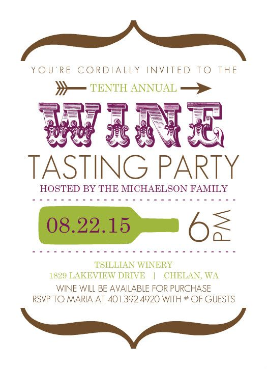 17 best wine tasting invitations images on Pinterest Wine parties