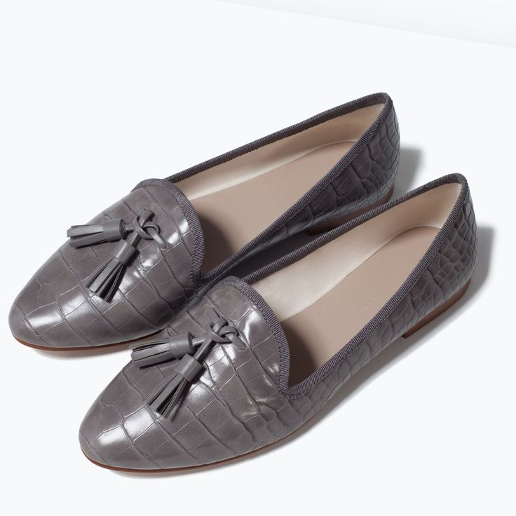 Image 5 of Flat shoes with tassels from Zara