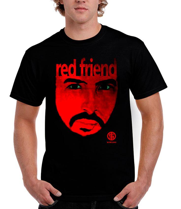 RED FRIEND... ***Vladimir Shvayukov's painting, organic cotton, 100%. The digital print.   #sibumi #tshirt #artclothes #gift #style#stylish #fashion #love #design #black #paint #artist #art