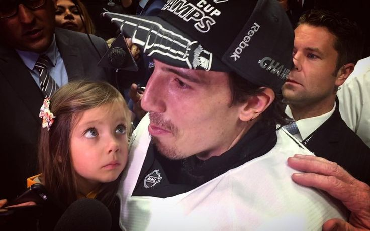 Marc-Andre Fleury in tears after being apart of his last game as a Penguin