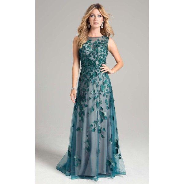 lara 32907 wedding guest dress long high neckline sleeveless 638 liked on polyvore