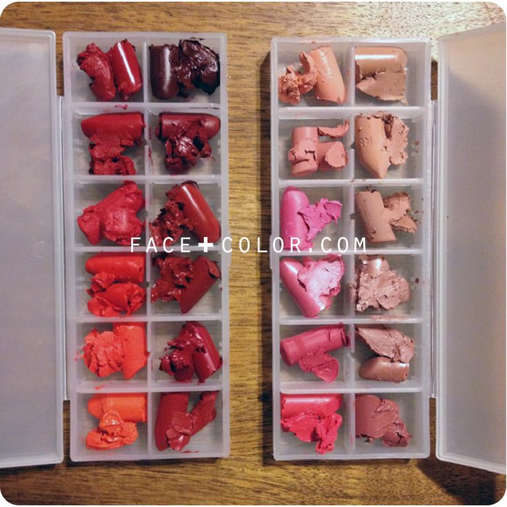DIY Lipstick Palette. Easy way to organize all your loose lipsticks!