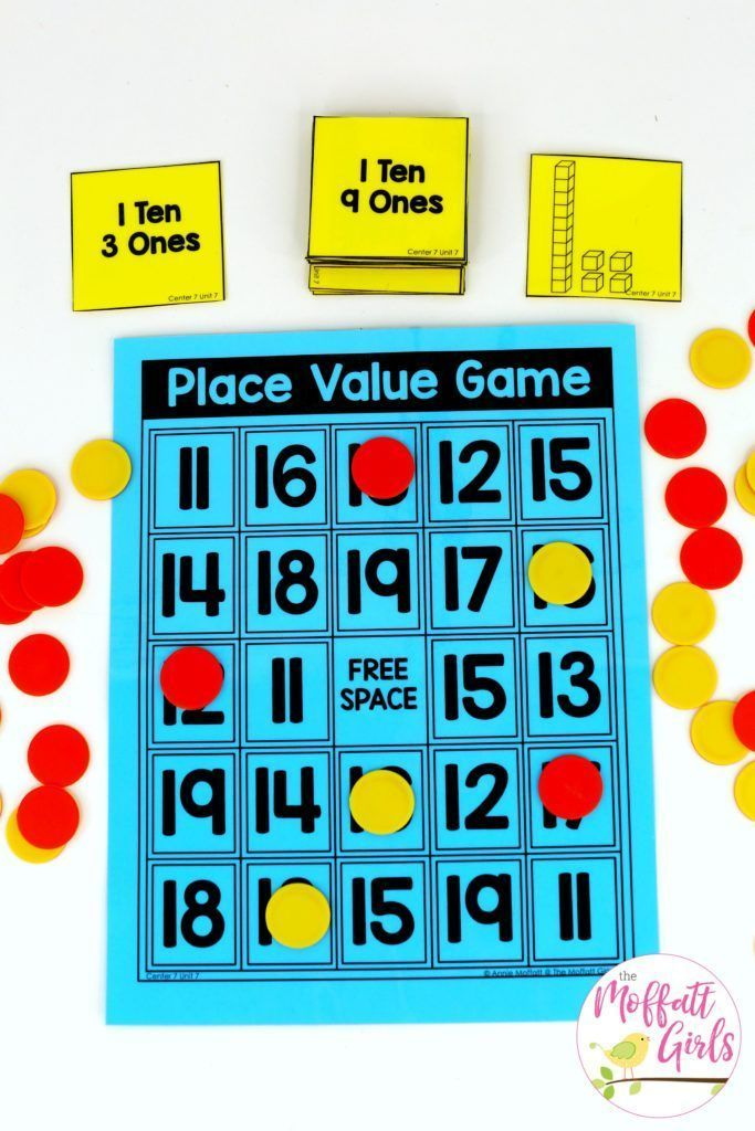 Fun place value game to teach decomposing numbers to tense and ones in Kindergarten! #learnmath