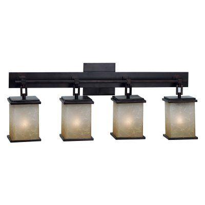 Kenroy Home 03375 Plateau 4-Light Vanity Light Bar - 29W in. Bronze Finish - 3375