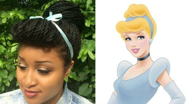 Summer Arlexis decided to recreate iconic Disney hairstyles with her Senegalese twists.