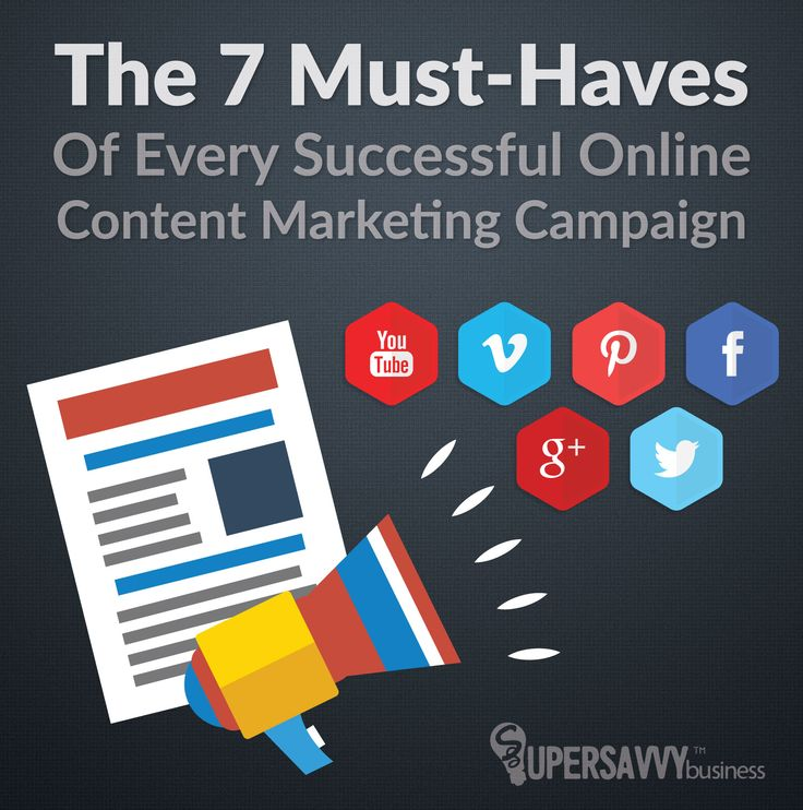 So you say content marketing doesn't work for you...? What if you're missing one of the 7 must-haves of successful online content marketing campaigns?
