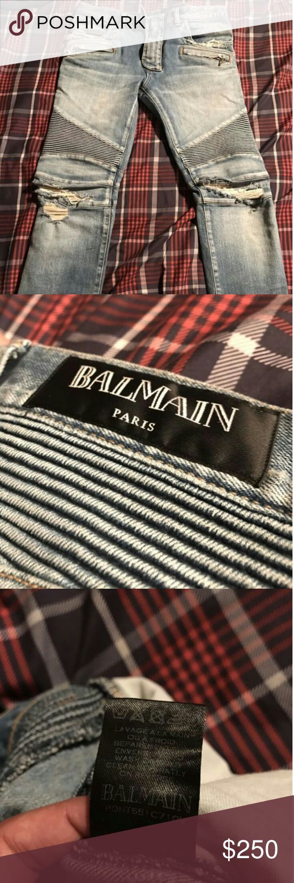 Balmain Jeans Size:31 destressed blue balmain jeans Balmain Jeans