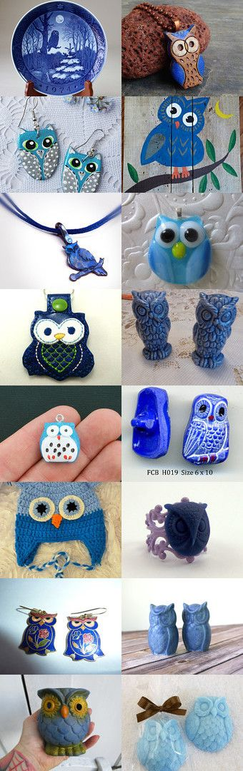 The Blue Owl by Christine S on Etsy--Pinned with TreasuryPin.com