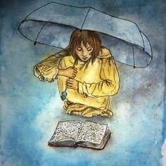 """Sous le parapluie - série """"rêves d'enfants"""" a6"""
