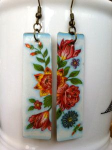 Make these earrings out of old tin boxes. Tutorial here.
