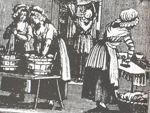 18th century women washing