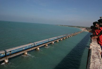 Picturesque Pamban Bridge connects Rameswaram to mainland India