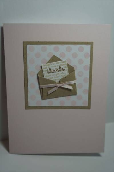 mini envelope thank you card