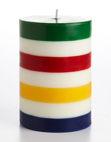 HBC Collections | Accessories | Multistripe Pillar Candle | Hudson's Bay