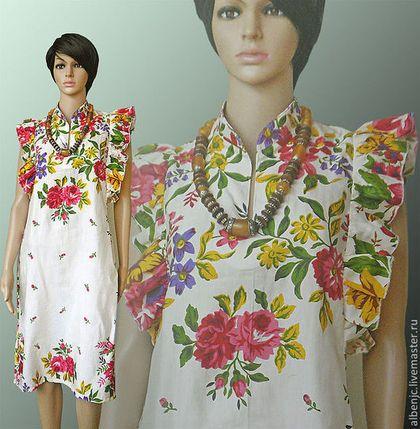 """Купить платье """"Ретро"""" 2 - белый, цветочный, платье, ретро стиль, весенняя мода"""