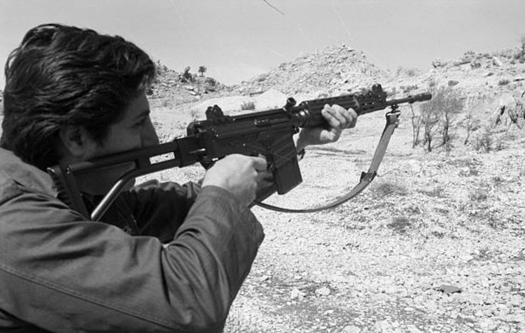 Bashir Gemayel w/ FN CAL. Just a few of those rifles were ever made by FN.