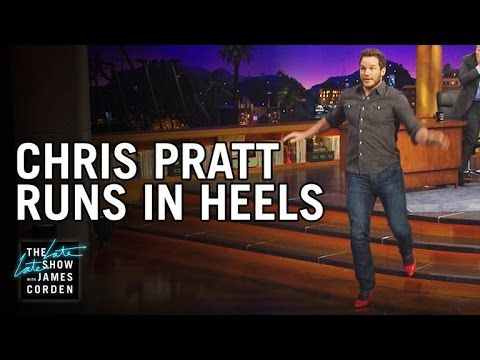 Chris Pratt Running In Heels Will Absolutely Make Your Day
