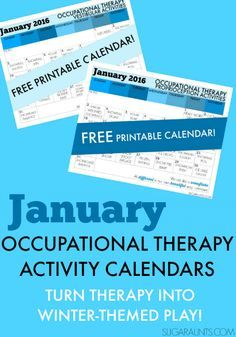 January Calendar: Sensory Integration Activities Turning Therapy into Play