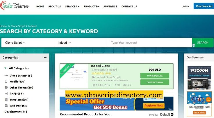 We introduce the Indeed Clone Script for those who are searching a job, Former ex-employee, entrepreneurs etc. for more details contact Php Script Directory team. Get all collection Job Aggregator Script and php Job Search Engine Script at minimal prices.