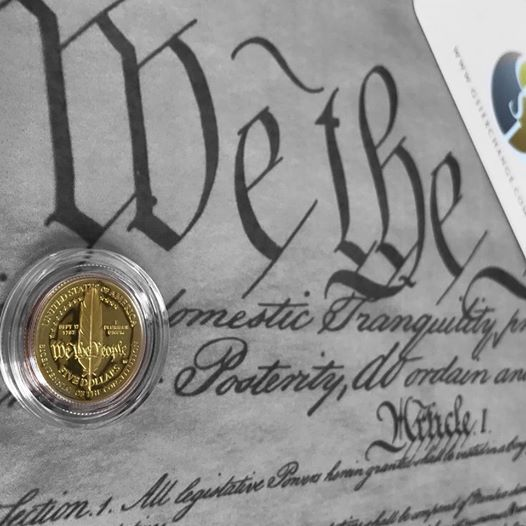 US Constitution -Article 1, Section 10- No State shall enter into any Treaty, Alliance, or Confederation; grant Letters of Marque and Reprisal; coin Money; emit Bills of Credit; make any Thing but #gold and #silver Coin a Tender in Payment of Debts; pass any Bill of Attainder, ex post facto Law, or Law impairing the Obligation of Contracts, or grant any Title of Nobility. Get your constitutional money at 800-474-9159 #makeamericasmoneygreatagain
