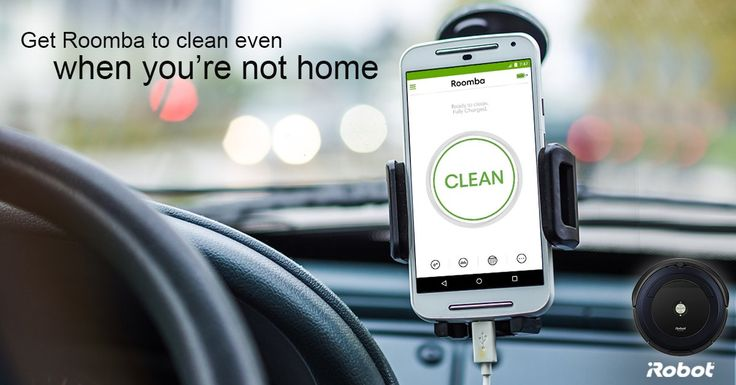 Use the iRobot HOME App to connect with your WiFi enabled